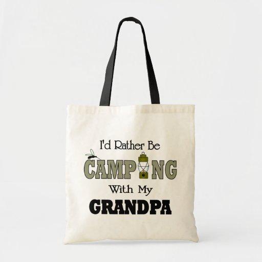 Estaría acampando bastante con el abuelo bolsas de mano