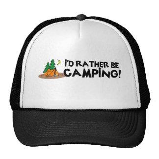 Estaría acampando bastante gorro de camionero