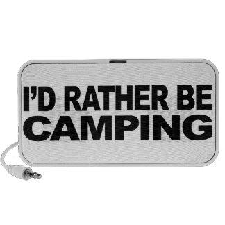 Estaría acampando bastante mini altavoces