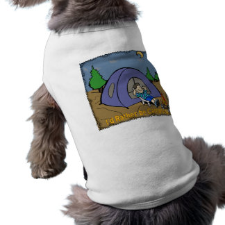 Estaría acampando bastante - ropa del mascota de l playera sin mangas para perro