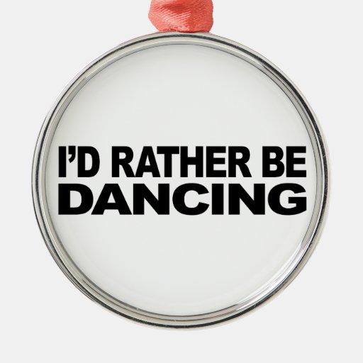 Estaría bailando bastante adorno navideño redondo de metal
