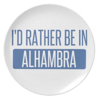 Estaría bastante en Alhambra Platos