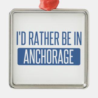 Estaría bastante en Anchorage Adorno Navideño Cuadrado De Metal
