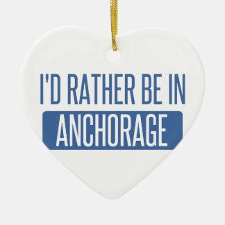 Estaría bastante en Anchorage Adorno Navideño De Cerámica En Forma De Corazón