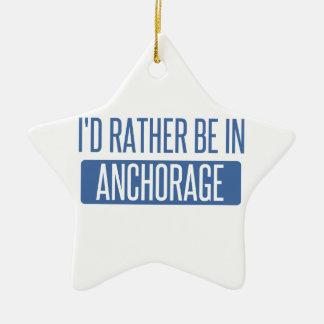 Estaría bastante en Anchorage Adorno Navideño De Cerámica En Forma De Estrella