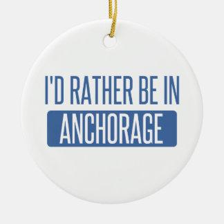 Estaría bastante en Anchorage Adorno Navideño Redondo De Cerámica