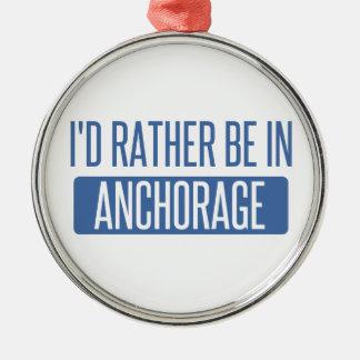 Estaría bastante en Anchorage Adorno Navideño Redondo De Metal