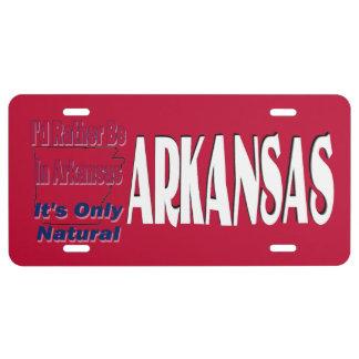 Estaría bastante en Arkansas que es solamente natu Placa De Matrícula