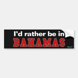 Estaría bastante en Bahamas Pegatina Para Auto