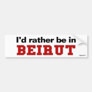 Estaría bastante en Beirut Pegatina Para Auto