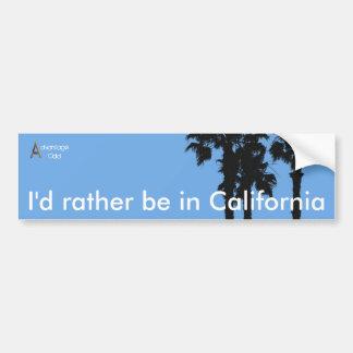 Estaría bastante en California Pegatina De Parachoque