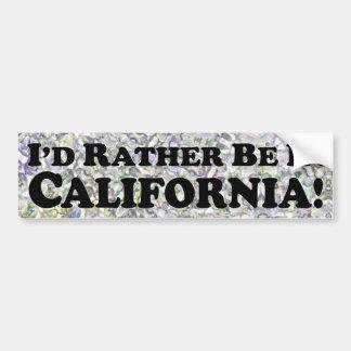 estaría bastante en California - pegatina para el  Pegatina De Parachoque