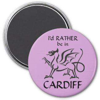 Estaría BASTANTE en CARDIFF (el dragón Galés) Imán Redondo 7 Cm