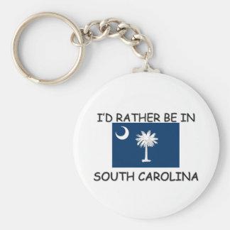 Estaría bastante en Carolina del Sur Llavero Redondo Tipo Pin