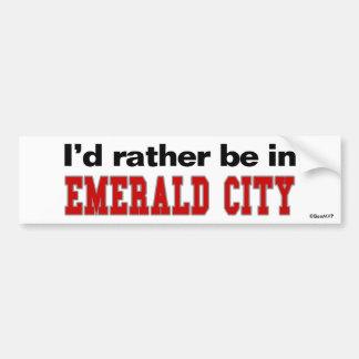 Estaría bastante en ciudad esmeralda pegatina para auto