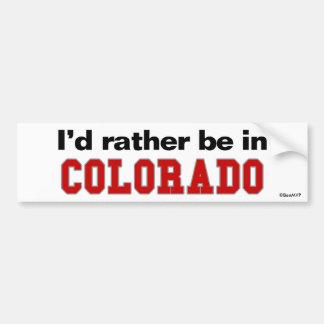 Estaría bastante en Colorado Pegatina Para Auto