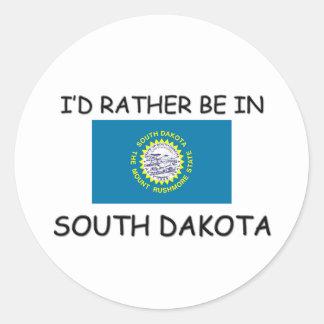 Estaría bastante en Dakota del Sur Pegatina Redonda