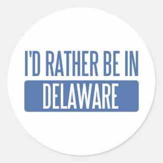 Estaría bastante en Delaware Etiquetas Redondas