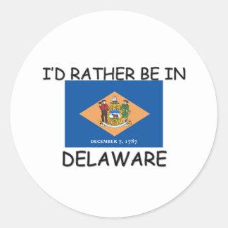 Estaría bastante en Delaware Pegatina Redonda