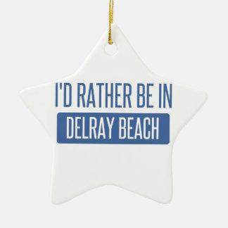 Estaría bastante en Delray Beach Adorno Navideño De Cerámica En Forma De Estrella