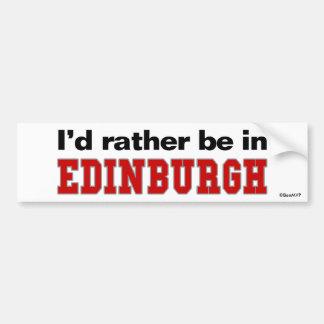 Estaría bastante en Edimburgo Pegatina Para Auto