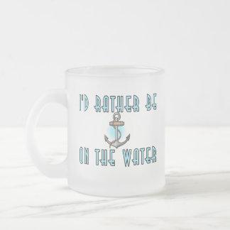 Estaría bastante en el agua taza de café esmerilada