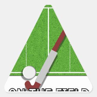 Estaría bastante en el campo el hockey calcomanías trianguladas personalizadas