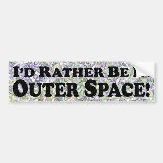 Estaría bastante en el espacio exterior - pegatina pegatina para auto