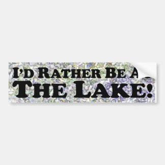 Estaría bastante en el lago - pegatina para el par pegatina de parachoque