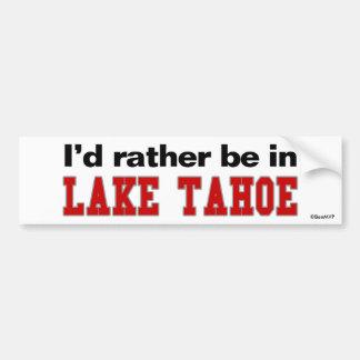 Estaría bastante en el lago Tahoe Etiqueta De Parachoque