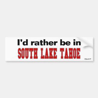 Estaría bastante en el lago Tahoe del sur Pegatina De Parachoque