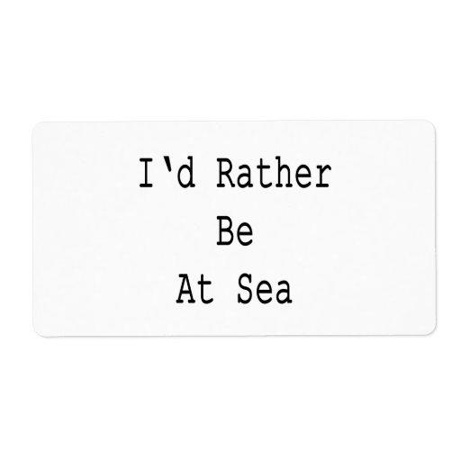 Estaría bastante en el mar etiquetas de envío