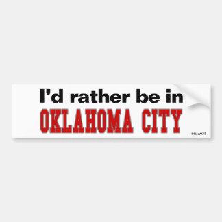 Estaría bastante en el Oklahoma City Etiqueta De Parachoque