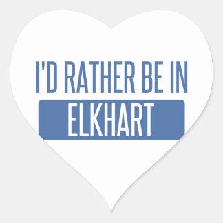 Estaría bastante en Elkhart Pegatina En Forma De Corazón