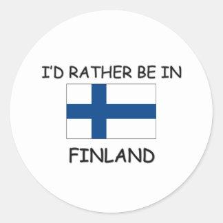 Estaría bastante en Finlandia Pegatinas Redondas