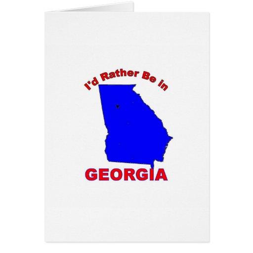 Estaría bastante en Georgia Tarjeta De Felicitación