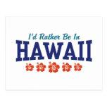 Estaría bastante en Hawaii Postal