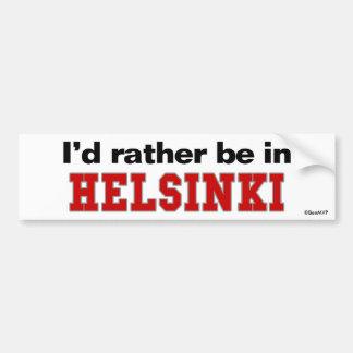 Estaría bastante en Helsinki Pegatina De Parachoque