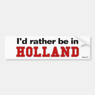 Estaría bastante en Holanda Etiqueta De Parachoque
