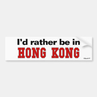 Estaría bastante en Hong Kong Pegatina Para Auto