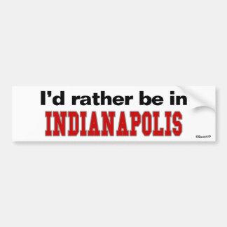 Estaría bastante en Indianapolis Pegatina Para Auto