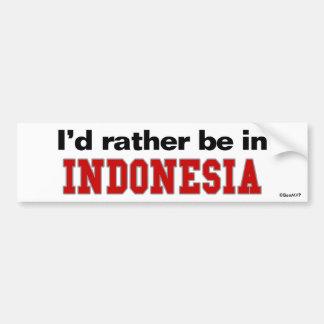 Estaría bastante en Indonesia Pegatina De Parachoque