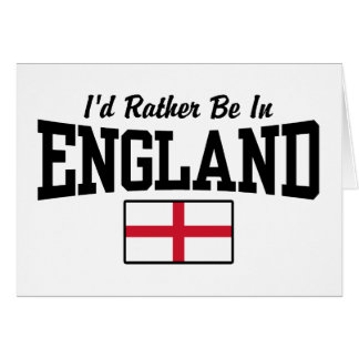 Estaría bastante en Inglaterra Tarjeta De Felicitación