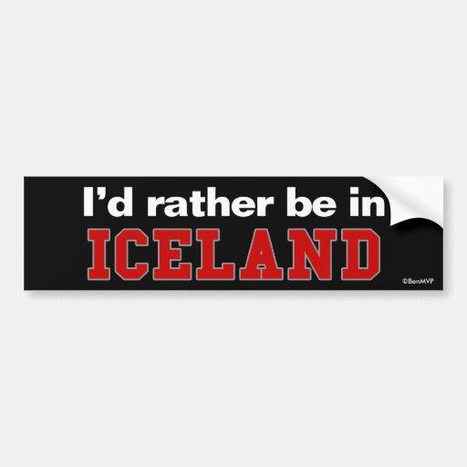 Estaría bastante en Islandia Etiqueta De Parachoque