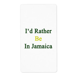 Estaría bastante en Jamaica Etiqueta De Envío