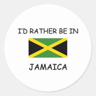 Estaría bastante en Jamaica Pegatina Redonda