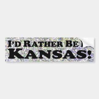 Estaría bastante en Kansas - pegatina para el para Etiqueta De Parachoque
