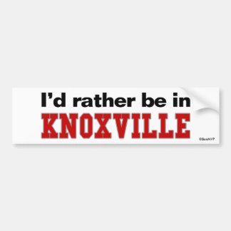 Estaría bastante en Knoxville Pegatina Para Auto