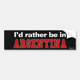 Estaría bastante en la Argentina Pegatina De Parachoque