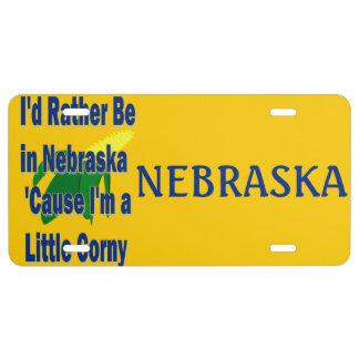 Estaría bastante en la causa de Nebraska que soy u Placa De Matrícula